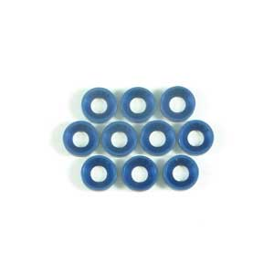 Aluminium Flat Head Washer 4mm - Blue (10Pcs)