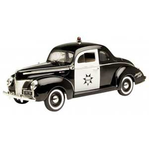 Ford Coupe 1940 Police (1/18)