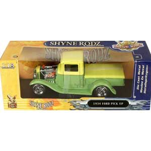 Ford Pick-up 1934 Yellow/Green (1/18)