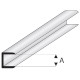 Profile plastique Edge strip 2x330mm